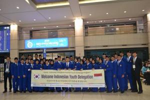 Delegasi IKYEP 2014 tiba di Bandara Incheon, Korea Selatan